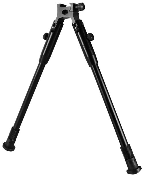COMPACT STREAM LINE BIPOD WITH WEAVER STYLE MOUNT/BLACK
