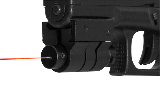 RED LASER SIGHT WITH WEAVER MOUNT - BLACK