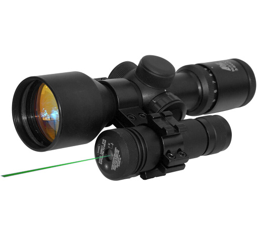 "GREEN LASER WITH 1"" INCH SCOPE MOUNT/PRESSURE SWITCH"