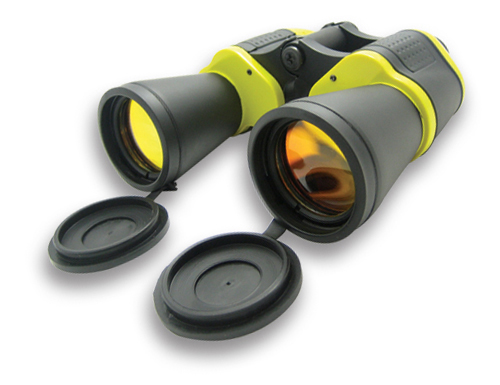 10X50 YELLOW & BLACK AUTO FOCUS BINOCULARS/RUBY LENS