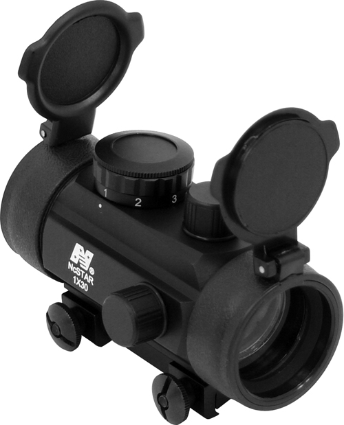 "1X30 B-STYLE RED DOT SIGHT / 3/8"" DOVETAIL BASE"