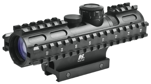2-7x32 COMPACT SCOPE/3 RAIL SIGHTING SYSTEM/BLUE ILL. MIL-DOT GR
