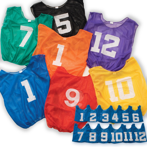 Flag Football Lightweight Numberd Scrimmage Vest-Adult
