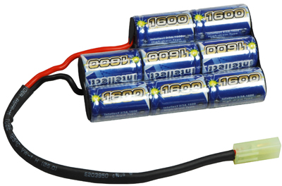 Airsoft Battery Intellect 9.6v 1600mAh Small Size for BatteryBox
