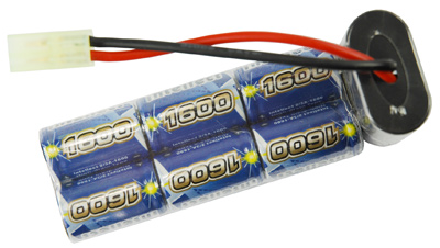 Airsoft Battery Intellect 9.6V 1600mAh Small Size for P90