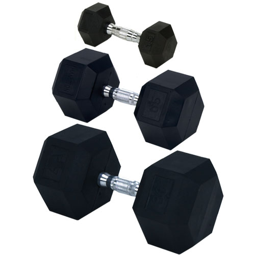 Champion Barbell Rubber Encased Solid Hex Dumbbell 60 lb