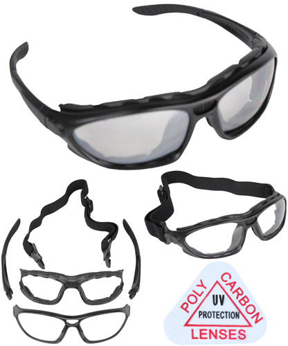 TSD Tactical Armor Goggle/Glasses - Grey Lense - AirgunDepot.com